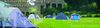 Activities Week – Camping Trip Payment Information