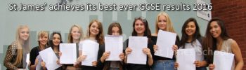 St James' achieves its best ever GCSE results